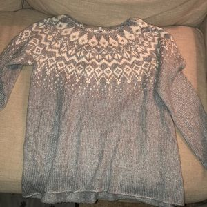 Sonoma grey knitted sweater size xlarge